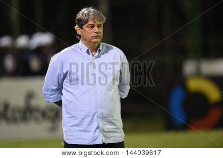Rio de Janeiro Brazil - july 27 Coach Marcelo Veiga during Botafogo x Bragantino valid for the return leg of the 3rd phase of the Brazil Cup held at the Arena Botafogo.