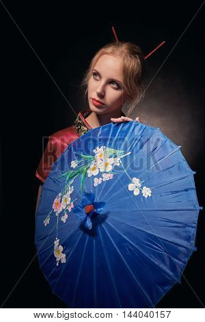 Beautiful Girl Geisha