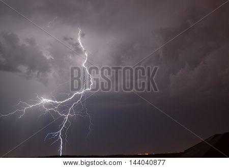 lightning, flash, rain, thunderstorm, night, sky, flash at night