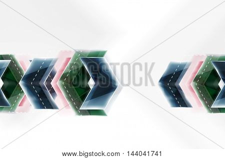 Colorful arrows composition. Vector web brochure, internet flyer, wallpaper or cover poster design.