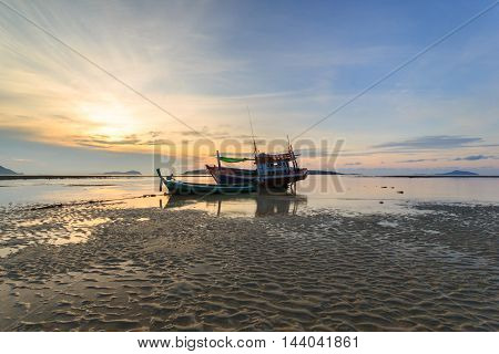 Sunrise at the Rawai beach in Phuket Thailand