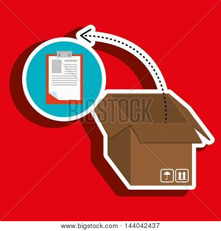 box pack carton delivery vector illustration eps 10