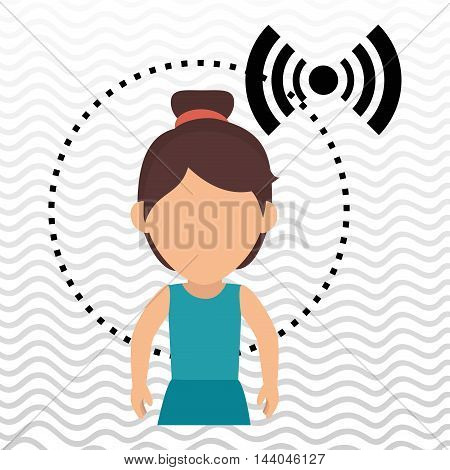 character alarm secure protection vector illustration eps 10
