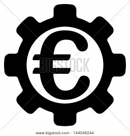 Euro Payment Options icon. Glyph style is flat iconic symbol, black color, white background.