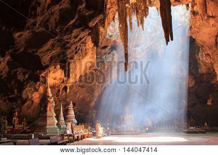 Khao Luang cave in Phetchaburi Province Thailand