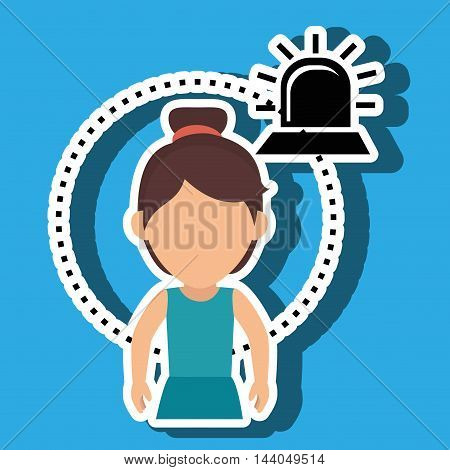 character siren secure protection vector illustration eps 10