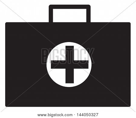 Medical case sign icon, Doctor symbol, Flat medical case symbol on white background.