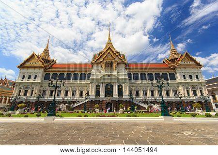 Grand palace Wat pra kaew with blue sky bangkok Thailand