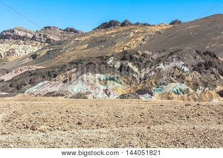 Colorful rocks along Artist Drive in the Death Valley National Park, California