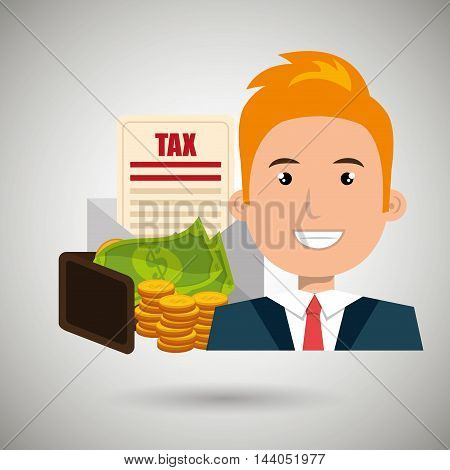 man money currency tax vector illustration eps 10
