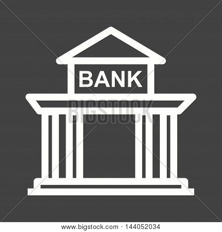 Building, bank, institution icon vector image. Can also be used for currency. Suitable for web apps, mobile apps and print media.