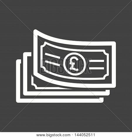 Cash, pound, money icon vector image. Can also be used for currency. Suitable for web apps, mobile apps and print media.