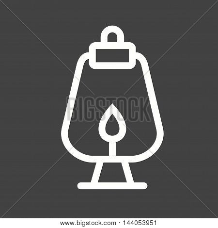 Lamp, oil, old icon vector image. Can also be used for wild west. Suitable for mobile apps, web apps and print media.