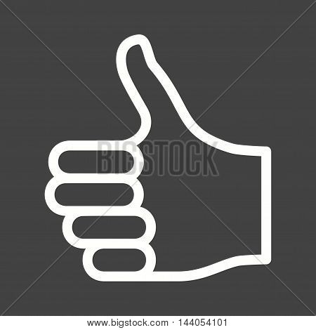 Thumbs, social, like icon vector image. Can also be used for hand actions. Suitable for web apps, mobile apps and print media.
