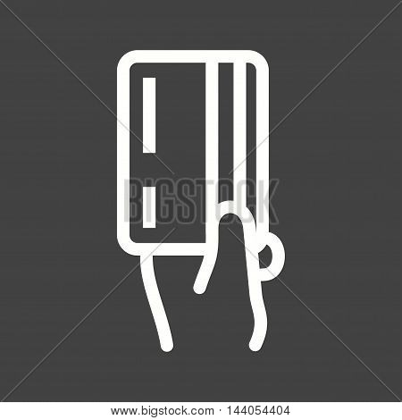 Card, credit, payment icon vector image. Can also be used for hand actions. Suitable for web apps, mobile apps and print media.