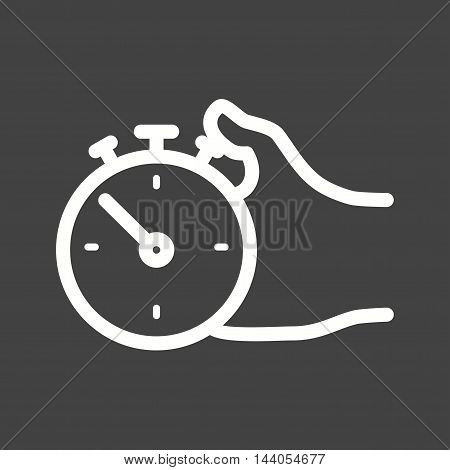 Stopwatch, watch, timer icon vector image. Can also be used for hand actions. Suitable for web apps, mobile apps and print media.