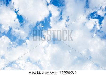 looking up Cloudy sky after rain nature background.