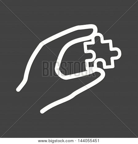 Puzzle, cube, game icon vector image. Can also be used for hand actions. Suitable for mobile apps, web apps and print media.