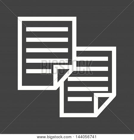 Documents, paper, business icon vector image. Can also be used for startup. Suitable for mobile apps, web apps and print media.