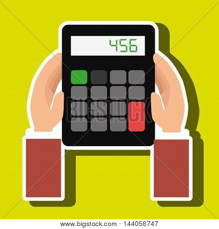 calculator accountant tax money vector illustration eps 10