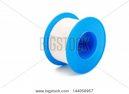 Adhesive bandage sticking plaster isolated over white background
