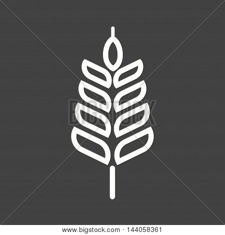 Wheat, summer, food icon vector image. Can also be used for islamic. Suitable for mobile apps, web apps and print media.
