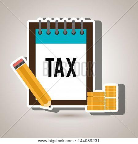 tax calendar coin money vector illustration eps 10