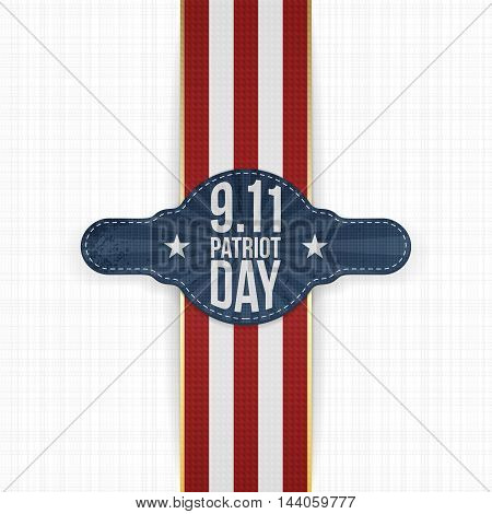 Patriot Day 9-11 realistic patriotic Label Template