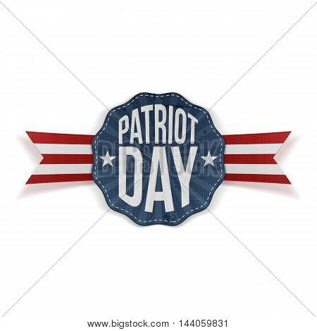Patriot Day Text on realistic Banner with Ribbon