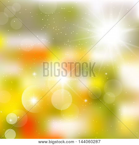 Abstract image of autumn leaf fall, flyer.