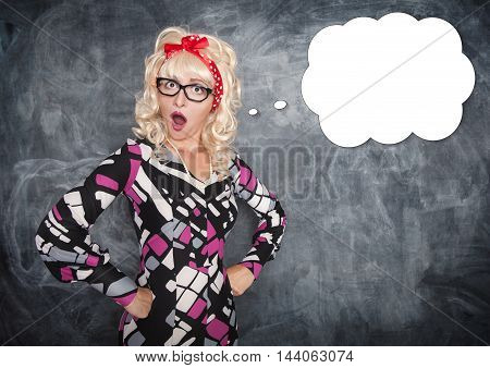 Retro Teacher Surprised