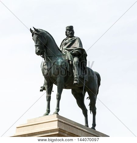 Garibaldi Monument on Janiculum Hill in Rome Italy