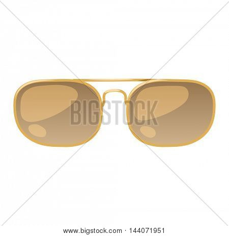 Vector glasses isolated on background.