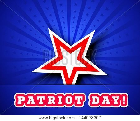 Patriot Day September 11. Vector illustration with star