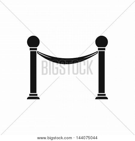 Column with ribbon icon in simple style isolated on white background. Fencing symbol