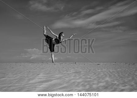 The Ballerina Dances In The Desert