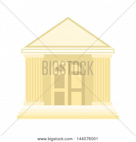 Vector building icon, flat design on white background
