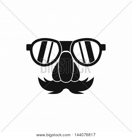 Clown face icon in simple style isolated on white background. Jest symbol