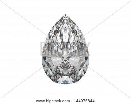 Large Pear Cut Diamond