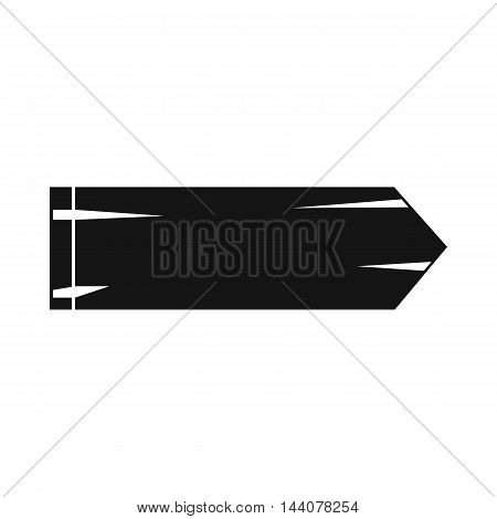 Thick arrow icon in simple style isolated on white background. Click and choice symbol