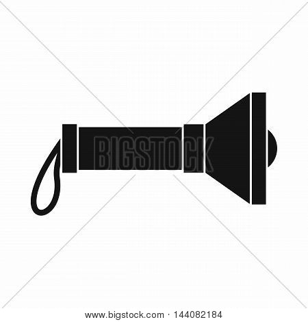 Lantern icon in simple style isolated on white background. Light symbol