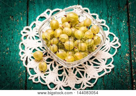 Summer Fresh Berries, Healthy Food, Wooden Background