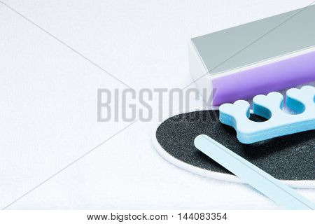 A set of tools for pedicure and feet care