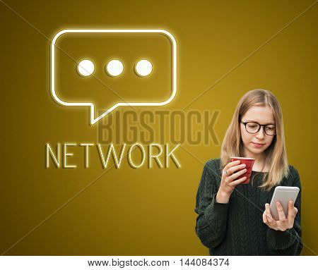 Network Connecting Chatting Communication Concept