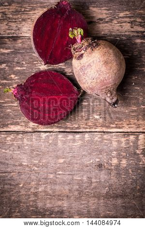 Fresh Beetroot On Wooden Table , Diet Concept