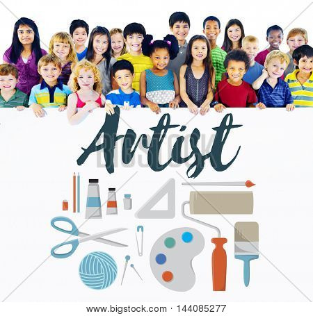 Arts and Craft Artistic Artist Design Ideas Concept