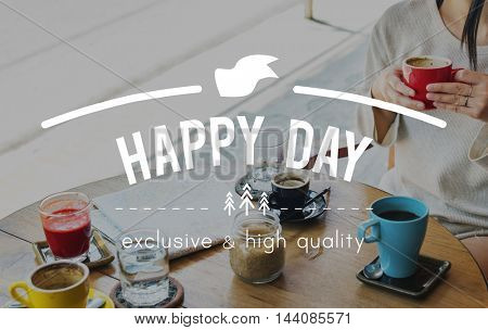 Happy Day Holiday Day Off Carefree Relaxation Vacation Concept