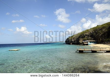 Beach In Curacao Island, Caribbean Sea