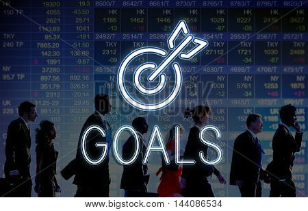 Target Goals Aim Aspiration Focus Vision Graphic Concept
