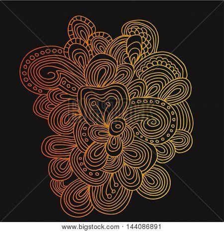 Vector gradient lines pattern in golden color